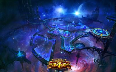 """图片: 图片1-《神鬼传奇》全新地图""""水晶界""""原画壁纸.jpg"""